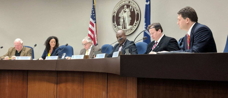Members of the City of Spartanburg Council in session.