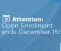 Healthcare.gov open enrollment ends December 15.