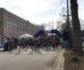 Runners at the start of a Pine Street School 5k race.