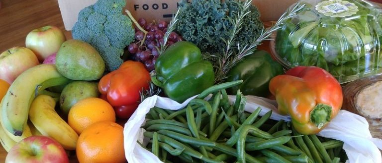 An assortment of vegetables from a FoodShare SC box.