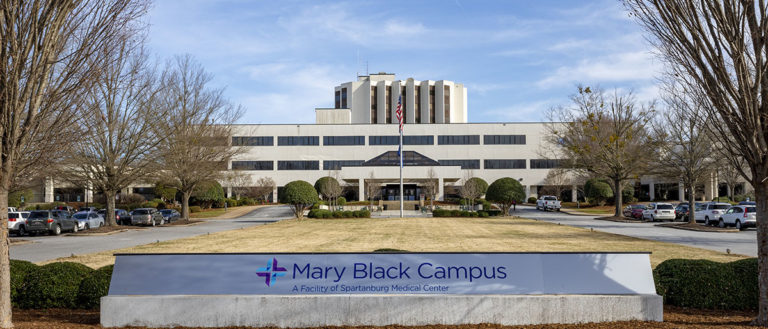 The front entrance sign to Mary Black Campus.