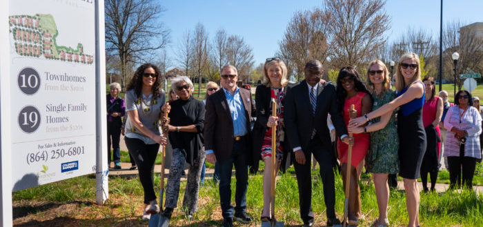 Coldwell Banker Caine associates breaking ground at Silver Hill.