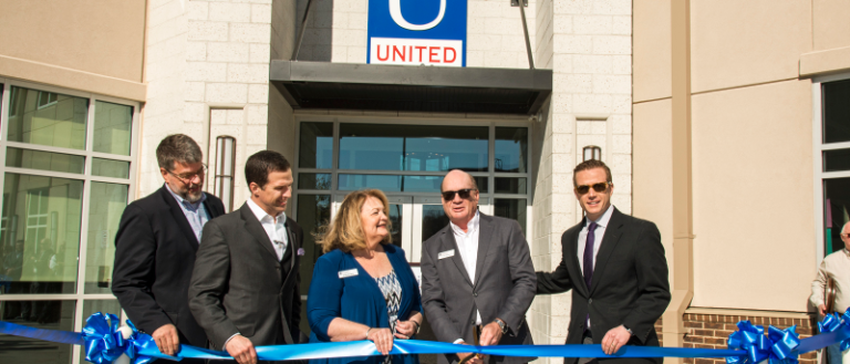The ribbon cutting for United Community Bank on Main in Spartanburg.