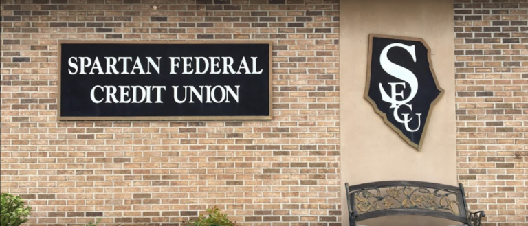 The brick exterior of Spartan Federal Credit Union.