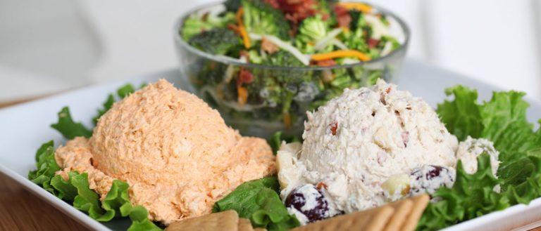 A trio of chicken salad options at Chicken Salad Chick.