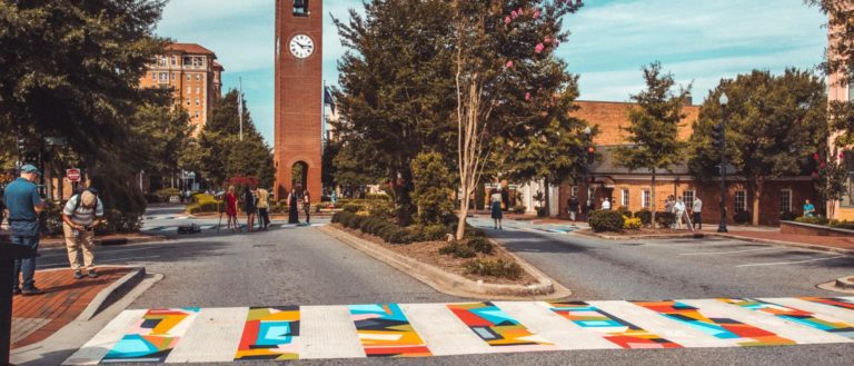 A potential Chapman Cultural Center crosswalk mural in downtown Spartanburg.