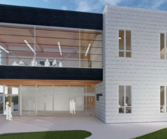 A rendering of Wofford's new environmental studies center.